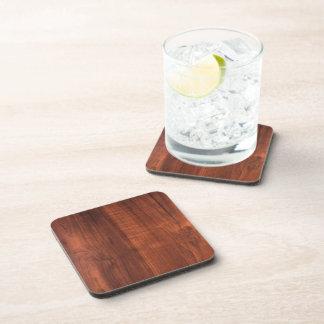 Wood WALNUT finish BUY BLANK Blanc Blanche + TEXT Drink Coaster
