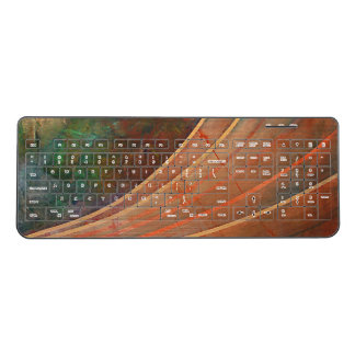 Wood Waves Wireless Keyboard