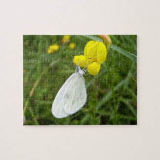 Wood White Butterfly Photo Puzzle with Gift Box