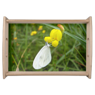Wood White Butterfly Serving Tray