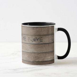 Wood with Engraved Name Mug