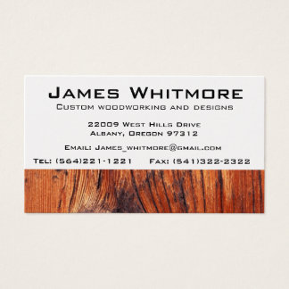 Wood working Cabinet Construction Business Card