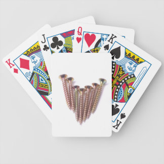 Wood working screws bicycle playing cards