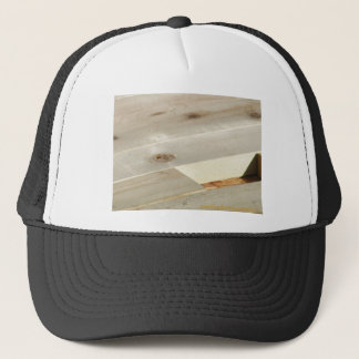 wood works trucker hat