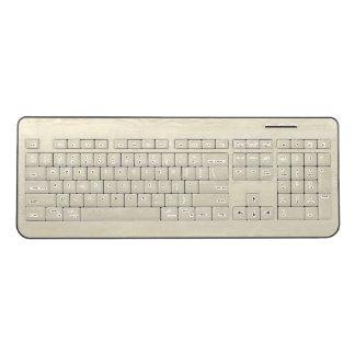 Wood Yellow Wood Oak Sandalwood Teak Wireless Keyboard
