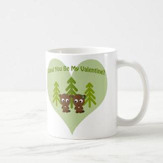 Wood You Be My Valentine Coffee Mug