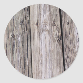 """Wood"" you like this? Classic Round Sticker"
