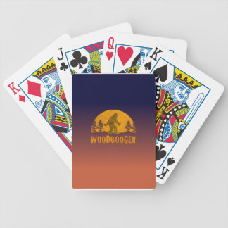Woodbooger Vintage Sunset Bicycle Playing Cards