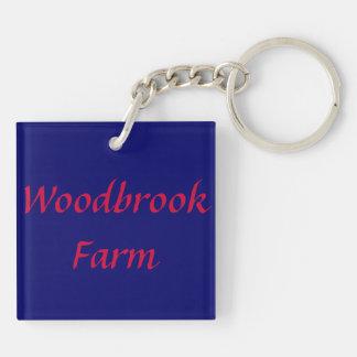 Woodbrook Farm double sided key chain