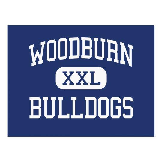 Woodburn - Bulldogs - High - Woodburn Oregon Postcard