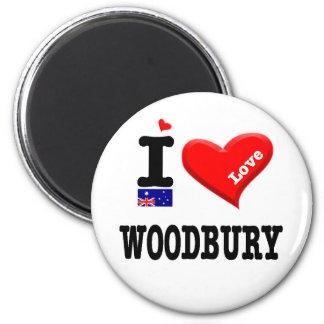 WOODBURY - I Love 2 Inch Round Magnet