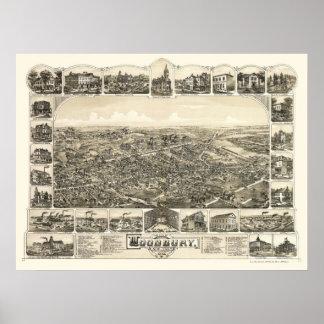 Woodbury, NJ Panoramic Map - 1886 Poster