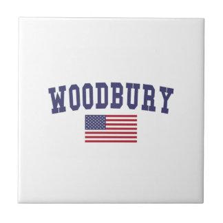 Woodbury US Flag Ceramic Tile
