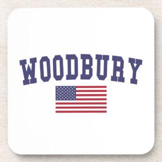 Woodbury US Flag Coaster