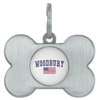 Woodbury US Flag Pet ID Tag