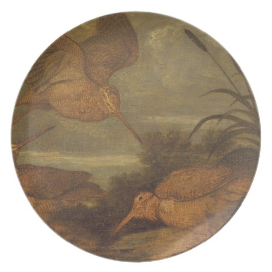 Woodcock at Dusk, c.1676 (oil on canvas) Plate