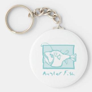 Woodcut Anglerfish Keychain