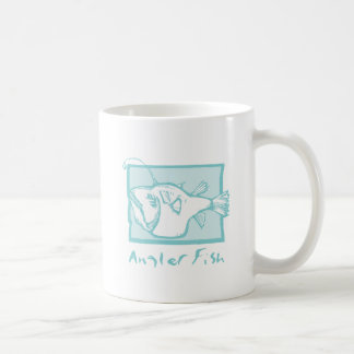 Woodcut Anglerfish Coffee Mugs