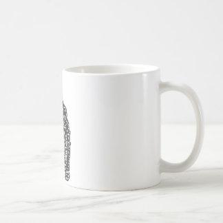 Woodcut Burning City Classic White Coffee Mug