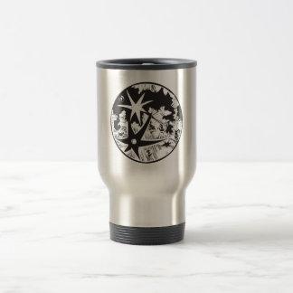 Woodcut Cratered Moon Mug