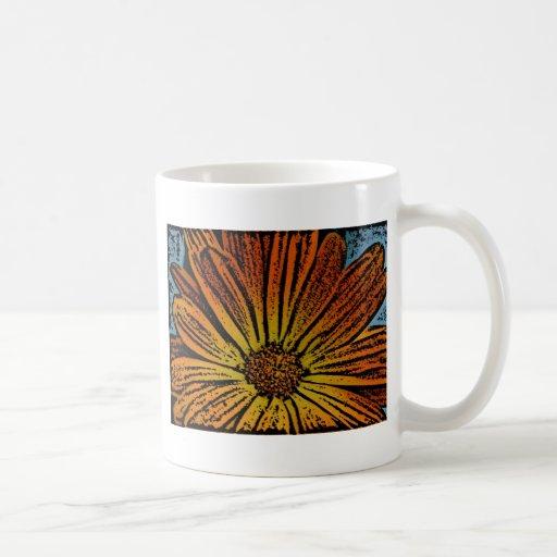 Woodcut Daisy Mug