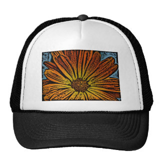 Woodcut Daisy Trucker Hat