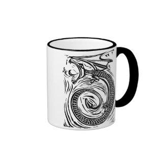 Woodcut Dragon Mug