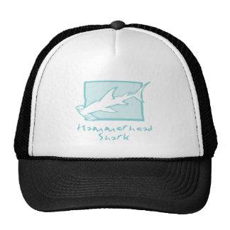 Woodcut Hammerhead Shark Hats