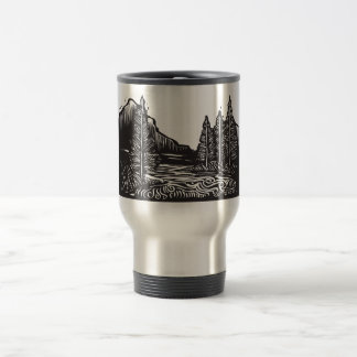 Woodcut Landscape Coffee Mug