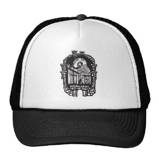 Woodcut Monk in Monastery Trucker Hat
