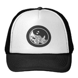 Woodcut Moon Mesh Hats