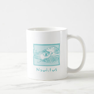 Woodcut Nautilus Mugs