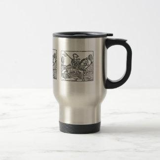 Woodcut of a Knight Coffee Mug