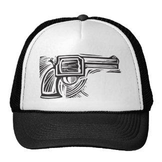 Woodcut Pistol Mesh Hats