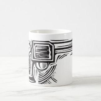 Woodcut Pistol Coffee Mug