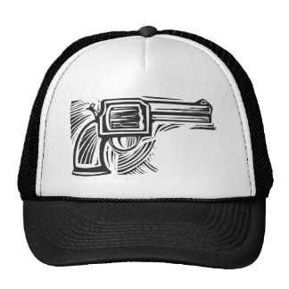 Woodcut Pistol Trucker Hat
