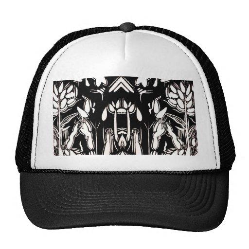 Woodcut shapes trucker hat