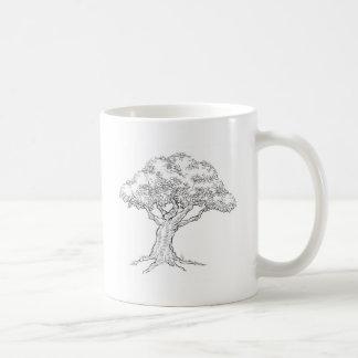 Woodcut sketch Style Tree Coffee Mug