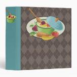 woodcut stew soup pot recipe cookbook binder