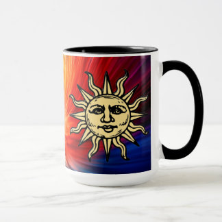 WOODCUT SUN MUG