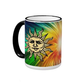 WOODCUT SUN RINGER MUG