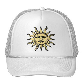 WOODCUT SUN TRUCKER HAT