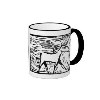 Woodcut Unicorn Mugs