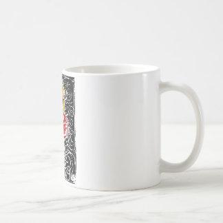 Woodcut Valentine - Flaming Heart Coffee Mug
