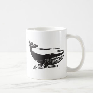 Woodcut Whale 6 Coffee Mug