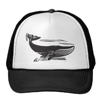 Woodcut Whale 6 Trucker Hat