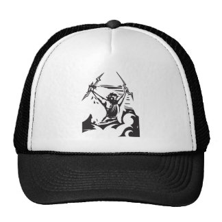 Woodcut Zeus Trucker Hat