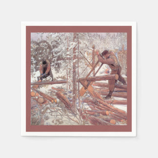 Woodcutters in the Forest Paper Napkins