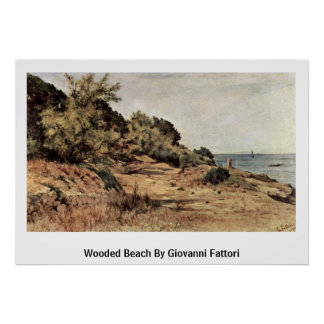 Wooded Beach By Giovanni Fattori Poster