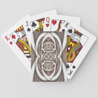 Wooden Abstract 1 Playing Cards